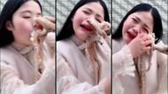 Çinli genç kız yemek istediği ahtapotun saldırısına uğradı