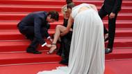 Galada ayakkabı krizi! Kırmızı halıya yaşanan talihsizlikler damga vurdu