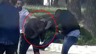 Üniversite kampüsünde genç kızın fotoğrafını çeken adamı tekme tokat dövdüler