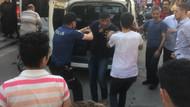 Kadını döven adama vatandaşlardan meydan dayağı