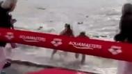 Yüzme yarışında rakibe skandal hareket!