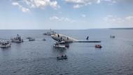 Dev yolcu uçağı Saros'ta denize batırıldı