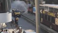 Son dakika: Taksim'de su borusu patladı trafik alt üst oldu