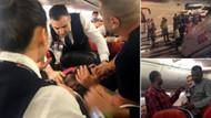 THY uçağında oksijen tüpü ile kokpite saldırdı!