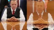 Erdoğan'ın fotoğrafında masadaki yansıması kafaları karıştırdı!