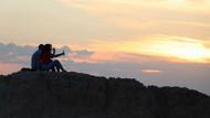 Kapadokya'da doğa harikası gün batımı