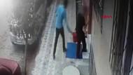 Apartman önünde temizlik yapan kadına taciz!