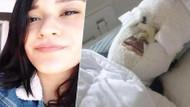 Asitli saldırısı sonrası ameliyat olan Berfin'den ilk fotoğraf