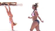Britney Spears plajda şov yaptı!