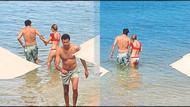 Tuba Ünsal evli sevgilisiyle plajda böyle keyif yaptı