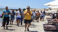 Halk plajının işgal edildiğini söyleyip tepki gösterdiler