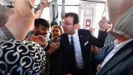 İmamoğlu'nun tramvay yolculuğunda ilginç görüntü