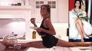 Zeynep Tokuş yoga hareketleriyle göz kamaştırdı