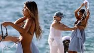 Ünlü model bikinisini plajda değiştirmek isteyince olanlar oldu!