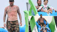 David Beckham'dan kadın hayranlarını coşturan vücut şovu