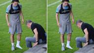 Trabzonspor başkanı antrenmanda ayakkabısını çıkarıp Abdülkadir'e verdi