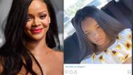 Rihanna'yı şoke eden benzerlik: Kızın fotoğrafını görünce..