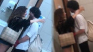 Aslı Bekiroğlu sevgilisini öpmeye doyamadı