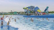 Su parkında 3 metrelik dalga oluştu ,44 kişi yaralandı