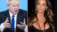 İngiliz TV yıldızı Katie Price, Osmanlı torunu Johnson'a göğüslerini açtı