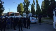 Polis ODTÜ'ye girdi ağaçların kesimine başlandı