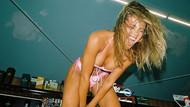 Sophia Richie Frankies Bikinis markasının plaj koleksiyonu için kamera karşısına geçti