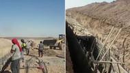 Fırat'ın doğusunda teröristler siper kazıyor