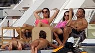Mustafa Sandal seksi kızları lüks yata doldurup denize açıldı