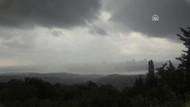 İstanbul'da beklenen şiddetli yağış başladı