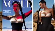 Kim Kardashian Vogue Arabistan'ın kapak kızı oldu