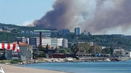 Çanakkale'de orman yangını! Alevler hastaneye yaklaştı