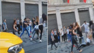 İstiklal Caddesi'nde kadınlı erkekli meydan savaşı