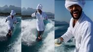 Rus şarkıcı Timati'den Antalya'da bornoz ve kahve ile dalga sörfü
