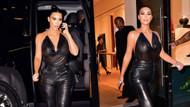 Kim Kardashian'ın göğüs uçlarını belli eden transparan bluzu olay oldu