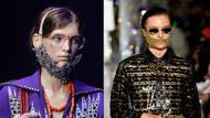 Moda dünyasında yeni trend kristal taşlı takma sakallar