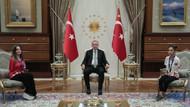 Erdoğan milli sporcular Sümeyye ve Sevilay'ı kabul etti