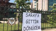 TBB önünde Metin Feyzioğlu'na pankartlı tepki: Saraya gittim dönücem