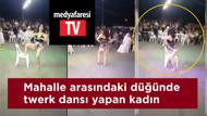 Sünnet düğününde twerk dansı yapan kadın