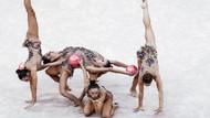 Dünya Ritmik Jimnastik Şampiyonası'ndan etkileyici kareler