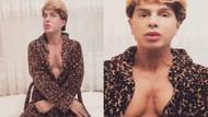 Yılmaz Morgül bornozuyla paylaşım yaptı göğüsleriyle olay oldu