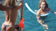 Katie Price Türkiye'de üstsüz denize girdi