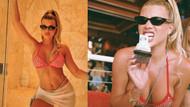 Sofia Richie'nin kırmızı taşlı bikinisi nabızları hızlandırdı