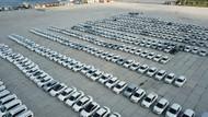 Yenikapı'daki İBB'ye ait yüzlerce araç havadan görüntülendi