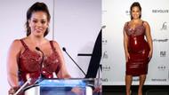 Büyük beden model Ashley Graham bu kez lateks elbisesiyle dikkat çekti