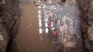 Kanalizasyon kazısında tarihi eser çıktı