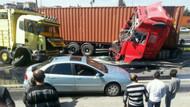 TEM'de kaza, trafik felç
