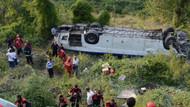 Otobüs takla attı! 2 ölü 26 yaralı