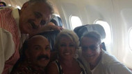 Muhteşem dörtlü aynı uçakta