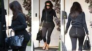 Kim Kardashian'ın taytı ince gelince