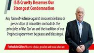 Gülen'den ABD gazetelerinde IŞİD ilanı
